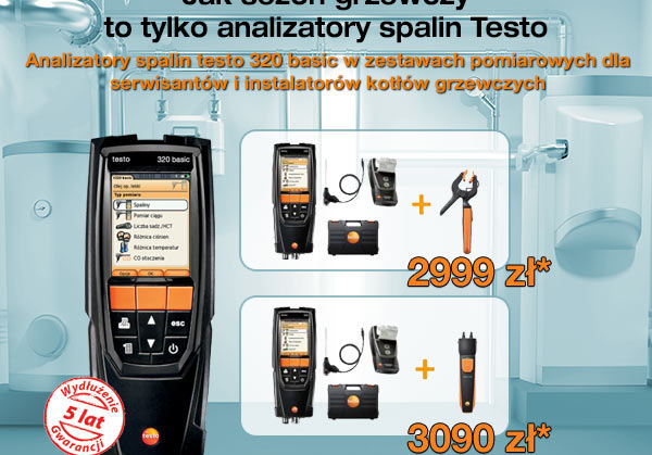 Analizator spalin testo 320 basic